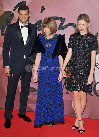 Anna Wintour ( centre ) and guests at the Fashion Awards 2016, Royal Albert Hall, Kensington Gore, London, England, UK, on Monday 05 December 2016. <br /> CAP/CAN<br /> ©CAN/Capital Pictures /MediaPunch ***NORTH AND SOUTH AMERICAS ONLY***