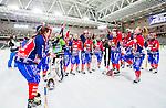 Stockholm 2015-03-13 Bandy SM-final herrar Sandvikens AIK - V&auml;ster&aring;s SK :  <br /> Karebys spelare jublar efter matchen mellan Sandvikens AIK och V&auml;ster&aring;s SK <br /> (Foto: Kenta J&ouml;nsson)<br /> Nyckelord:  SM SM-final final Bandyfinal Bandyfinalen Dam Damer Dambandy AIK Kareby IS jubel gl&auml;dje lycka glad happy