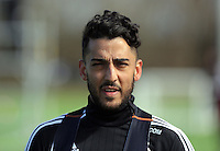 Neil Taylor during the Swansea City FC training at Fairwood training ground in Wales, UK on Wednesday 06 April 2016