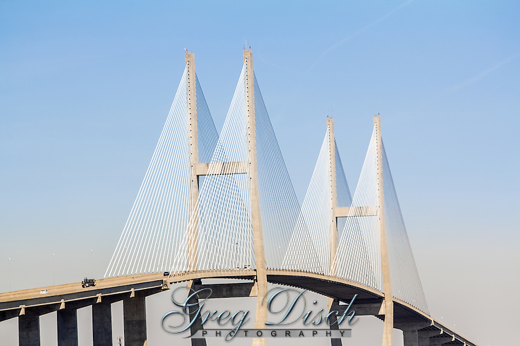 The Sidney Lanier Bridge is a cable-stayed bridge that spans the Brunswick River in Brunswick, Georgia, carrying four lanes of U.S. Route 17.  It is currently the longest-spanning bridge in Georgia and is 480 feet tall. It is also the seventy-sixth largest cable-stayed bridge in the world. It was named for poet Sidney Lanier.