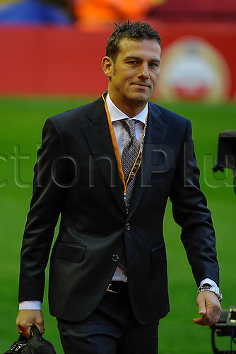 25.02.2016. Liverpool, England. UEFA Europa League game between Liverpool FC and Augsburg. Augsburg team manager Markus Weinzierl