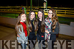 Enjoying the Academy of Dance Fundraising night at the Kingdom Greyhound Stadium on Saturday night were l-r  Lorraine Lyne, Sorcha Ringland, Tara Collins and Caroline Courtney.