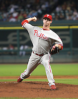 Philadelphia Phillies pitcher Kyle Kendrick on Thursday May 22nd at Minute Maid Park in Houston, Texas. Photo by Andrew Woolley / Four Seam Images.