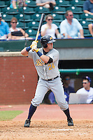 Willie Argo (24) of the Montgomery Biscuits at bat against the Chattanooga Lookouts at AT&T Field on July 23, 2014 in Chattanooga, Tennessee.  The Lookouts defeated the Biscuits 6-5. (Brian Westerholt/Four Seam Images)