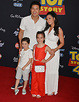 "Mario Lopez, Courtney Laine Mazza, Dominic Lopez, Gia Francesca Lopez  arrives at the premiere of Disney and Pixar's ""Toy Story 4"" on June 11, 2019 in Los Angeles, California."