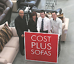 Andrew Ezekwe, Ruth Dunne, Steve Martyn and Wayne Cummins at the Opening of Cost Plus Sofas in the M1 Retail Park...Photo NEWSFILE/Jenny Matthews.(Photo credit should read Jenny Matthews/NEWSFILE)....This Picture has been sent you under the condtions enclosed by:.Newsfile Ltd..The Studio,.Millmount Abbey,.Drogheda,.Co Meath..Ireland..Tel: +353(0)41-9871240.Fax: +353(0)41-9871260.GSM: +353(0)86-2500958.email: pictures@newsfile.ie.www.newsfile.ie.FTP: 193.120.102.198.