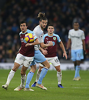 West Ham United's Andy Carroll and Burnley's Jack Cork<br /> <br /> Photographer Rob Newell/CameraSport<br /> <br /> The Premier League - Burnley v West Ham United - Sunday 30th December 2018 - Turf Moor - Burnley<br /> <br /> World Copyright © 2018 CameraSport. All rights reserved. 43 Linden Ave. Countesthorpe. Leicester. England. LE8 5PG - Tel: +44 (0) 116 277 4147 - admin@camerasport.com - www.camerasport.com