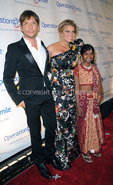 WWW.ACEPIXS.COM . . . . . ....May 6 2010, New York City....Stylist Ken Paves, Jessica Simpson and Operation Smile patient Meena arriving at the Operation Smile Annual Gala at Cipriani Wall Street on May 6, 2010 in New York City.....Please byline: KRISTIN CALLAHAN - ACEPIXS.COM.. . . . . . ..Ace Pictures, Inc:  ..tel: (212) 243 8787 or (646) 769 0430..e-mail: info@acepixs.com..web: http://www.acepixs.com