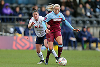 Emma Mitchell of Tottenham Hotspur women and Adriana Leon of West Ham United women during Tottenham Hotspur Women vs West Ham United Women, Barclays FA Women's Super League Football at the Hive Stadium on 12th January 2020