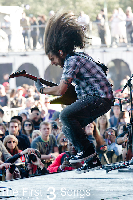 Claudio Sanchez of Coheed and Cambria performs during the 2012 Voodoo Experience at City Park in New Orleans, Louisiana.