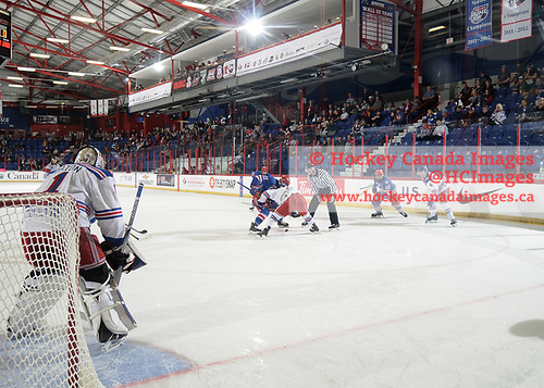 Brooks, AB - May 12 2019 - Oakville Blades vs. Prince George Spruce Kings during the 2019 National Junior A Championship at the Centennial Regional Arena in Brooks, Alberta, Canada (Photo: Matthew Murnaghan/Hockey Canada)