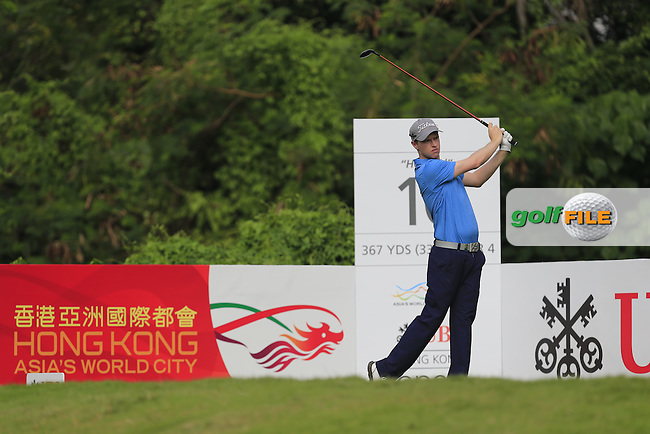 Kevin Phelan (IRL) on the 10th tee during Round 1 of the 2015 UBS Hong Kong Open at the Hong Kong Golf Club in The Netherlands on 2/10/15.<br /> Picture: Thos Caffrey | Golffile
