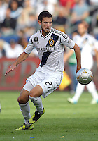 CARSON, CA - DECEMBER 01, 2012:   Tommy Meyer (21) of the Los Angeles Galaxy against the Houston Dynamo during the 2012 MLS Cup at the Home Depot Center, in Carson, California on December 01, 2012. The Galaxy won 3-1.