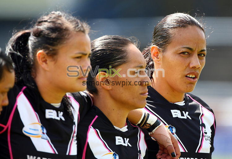 PICTURE BY VAUGHN RIDLEY/SWPIX.COM - Rugby League - Festival of World Cups, Women's Final - Australia Women v New Zealand Women - Headingley, Leeds, England - 14/07/13 - New Zealand sing national anthem. Honey Hireme.