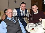 Shane Mulligan, Brian McConnon and Mark Flynn at The Night At The Opera in Linn Duchaill restaurant at The Glyde Inn Annagassan. Photo:Colin Bell/pressphotos.ie
