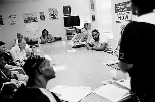 Philadelphia, Pennsylvania<br /> May 3, 2011<br /> <br /> Ahnivah Williams is the &quot;Job Developer&quot; for the Philadelphia Unemployment Project (PUP) and holds a weekly meeting with unemployed people in the area to discuss job hunting situations and strategies. She also presents a few job opportunities in the end of the meeting.