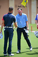 Jim Herman (USA) shakes hands following round 1 of the Valero Texas Open, AT&amp;T Oaks Course, TPC San Antonio, San Antonio, Texas, USA. 4/20/2017.<br /> Picture: Golffile | Ken Murray<br /> <br /> <br /> All photo usage must carry mandatory copyright credit (&copy; Golffile | Ken Murray)