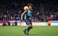 Sido Jombati of Wycombe Wanderers in action during the Sky Bet League 2 match between Wycombe Wanderers and Luton Town at Adams Park, High Wycombe, England on 6 February 2016. Photo by Andy Rowland.