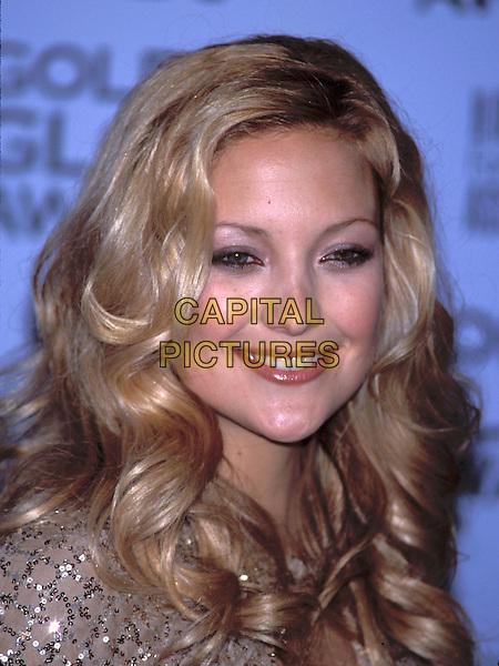 KATE HUDSON .Golden Globe Awards 2002.Ref: 11372.smiling, portrait headshot, curls.sales@capitalpictures.com.www.capitalpictures.com.©Capital Pictures