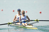 Beijing, CHINA,  GBR JW2-, Bow, Vicky KNIGHT and Emily PIGGOTT,  during the  2007. FISA Junior World Rowing Championships Shunyi Water Sports Complex. Wed. 08.08.2007  [Photo, Peter Spurrier/Intersport-images]..... , Rowing Course, Shun Yi Water Complex, Beijing, CHINA,