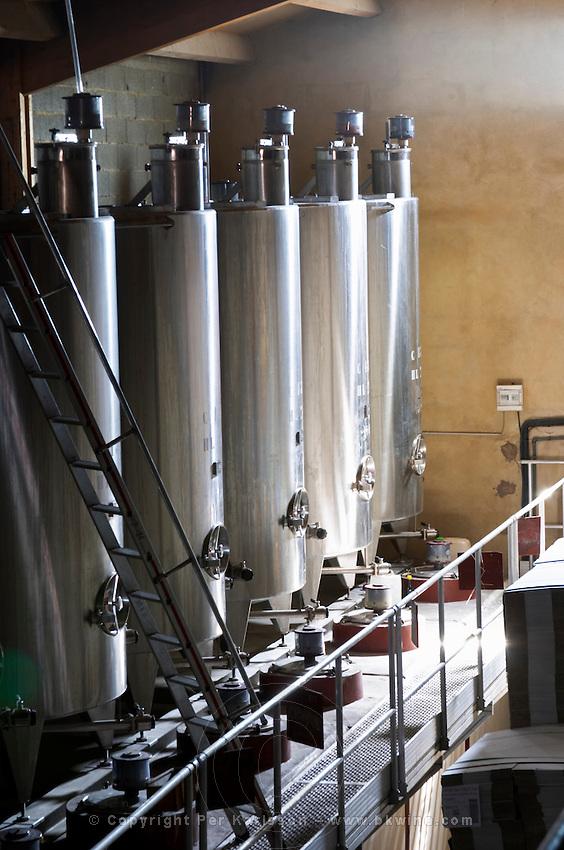stainless steel tanks domaine du vieux lazaret chateauneuf du pape rhone france