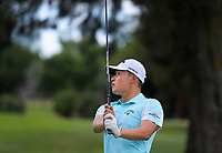 Woonchul Na. Day two of the Jennian Homes Charles Tour / Brian Green Property Group New Zealand Super 6s at Manawatu Golf Club in Palmerston North, New Zealand on Friday, 6 March 2020. Photo: Dave Lintott / lintottphoto.co.nz