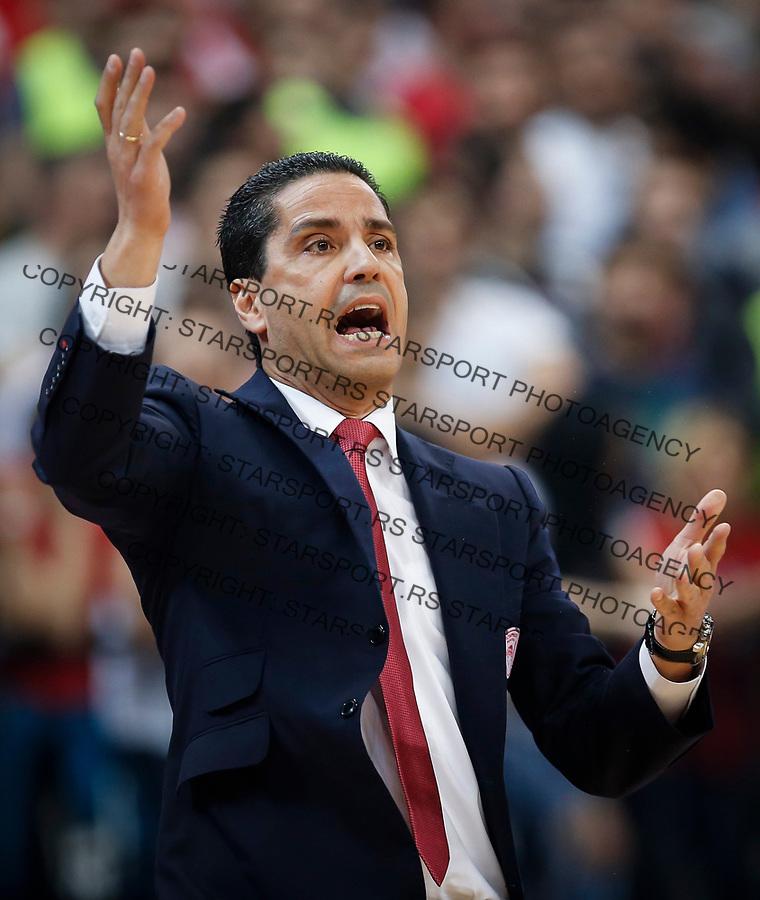 Kosarka Euroleague season 2016-2017<br /> Crvena Zvezda v Olympiacos (Athens)<br /> Head coach Ioannis Sfairopoulos<br /> Beograd, 22.03.2017.<br /> foto: Srdjan Stevanovic/Starsportphoto &copy;