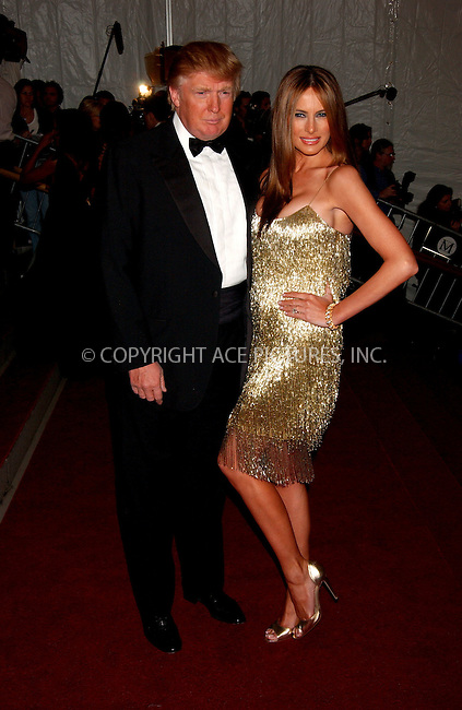 "WWW.ACEPIXS.COM................May 7 2007, New York City....DONALD TRUMP, MELANIA TRUMP....Arrivals at the 2007 Costume Institute Benefit Gala ""Poiret: King Of Fashion"" at the Metropolitan Museum of Art. ....Byline:  KRISTIN CALLAHAN - ACEPIXS.COM....For information please contact:....Philip Vaughan, 212 243 8787 or 646 769 0430..Email: info@acepixs.com..Web: WWW.ACEPIXS.COM"