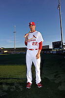 Mar 01, 2010; Jupiter, FL, USA; St. Louis Cardinals outfielder Joe Mather (22) during  photoday at Roger Dean Stadium. Mandatory Credit: Tomasso De Rosa/ Four Seam Images