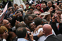 President Barack Obama speaks to an enthusiastic crowd during a Labor Day event in the shadow of the GM Renaissance Center in Detroit Mich., Monday, Sept. 5, 2011<br />SUSAN TUSA\Detroit Free Press