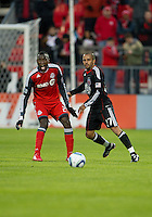 16 April 2011: Toronto FC midfielder Tony Tchani #22 and D.C. United midfielder/forward Fred #27 in action during an MLS game between D.C. United and the Toronto FC at BMO Field in Toronto, Ontario Canada..D.C. United won 3-0.