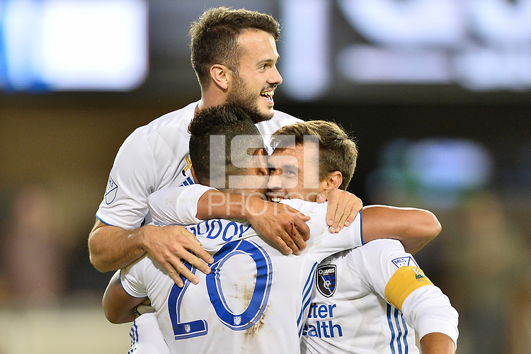 San Jose, CA - Wednesday September 19, 2018: Chris Wondolowski during a Major League Soccer (MLS) match between the San Jose Earthquakes and Atlanta United FC at Avaya Stadium.