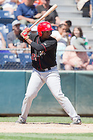 Gabriel Cenas (23) of the Vancouver Canadians at bat during a game against the Everett Aquasox at Everett Memorial Stadium in Everett, Washington on July 28, 2015.  Everett defeated Vancouver 8-5. (Ronnie Allen/Four Seam Images)