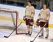 Kevin Hayes (BC - 12), Chris Calnan (BC - 11) - The Boston College Eagles defeated the University of Denver Pioneers 6-2 in their NCAA Northeast Regional semi-final on Saturday, March 29, 2014, at the DCU Center in Worcester, Massachusetts.