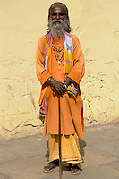 India, Rajasthan, Jaipur,holy man portrait