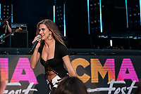 NASHVILLE, TENNESSEE - JUNE 08: Kassi Ashton performs onstage during day 3 of the 2019 CMA Music Festival on June 8, 2019 in Nashville, Tennessee. <br /> CAP/MPI/IS/AW<br /> ©MPIIS/AW/Capital Pictures
