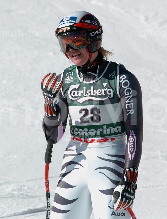 Ski Alpin; WM - Bormio 2005 Super G Damen Hilde Gerg (GER) enttaeuscht