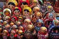 Dolls in store display in St. Petersburg,Russia