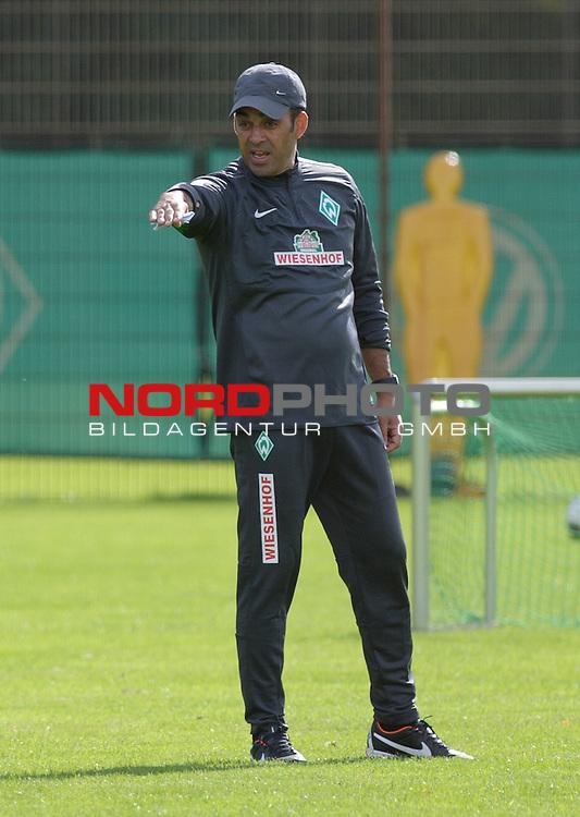 01.09.2013, Trainingsgelaende, Bremen, GER, 1.FBL, Training Werder Bremen, im Bild Robin Dutt (Trainer Werder Bremen)<br /> <br /> Foto &copy; nph / Frisch
