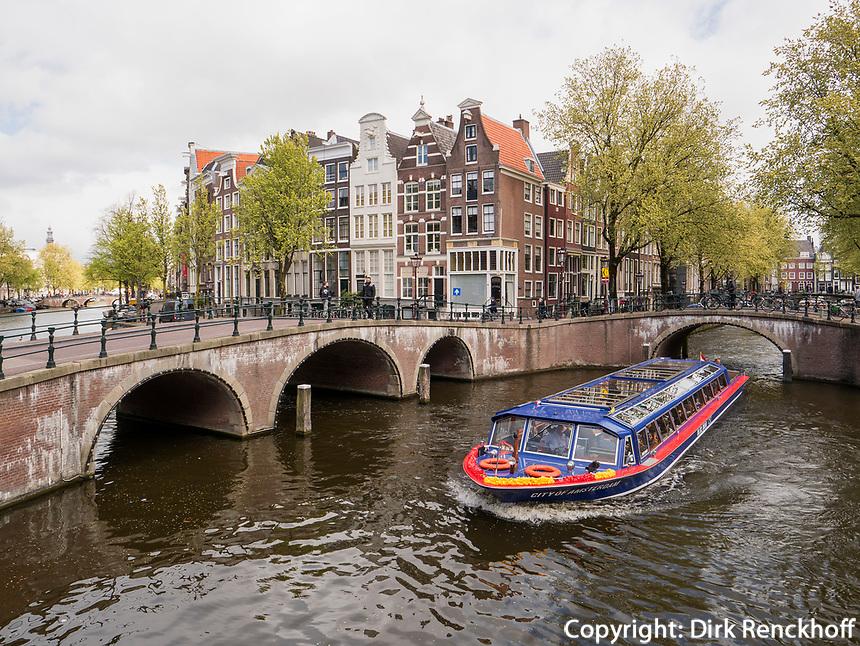 Leidse- und Keizersgracht, Amsterdam, Provinz Nordholland, Niederlande<br /> Leidse- and Keizersgracht, Amsterdam, Province North Holland, Netherlands