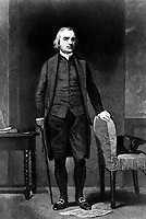 Samuel Adams.  Copy of engraving after Alonzo Chappel, published 1858.  (George Washington Bicentennial Commission)<br /> Exact Date Shot Unknown