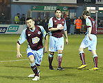 Drog's Gareth Whelan (5), John Lester (6) and Mark O'Brien (7) as Drogheda Utd V UCD in the Airtricity League. (result UCD 1 Drogheda Utd 0)..(Photo credit should read Jenny Matthews/www.newsfile.ie)....This Picture has been sent you under the conditions enclosed by:.Newsfile Ltd..The Studio,.Millmount Abbey,.Drogheda,.Co Meath..Ireland..Tel: +353(0)41-9871240.Fax: +353(0)41-9871260.GSM: +353(0)86-2500958.email: pictures@newsfile.ie.www.newsfile.ie.