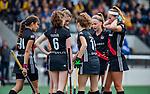 AMSTELVEEN - ,  finale Kampong MB1-Amsterdam MB1. AMSTERDAM MB1 wint de titel Meisjes B. finales A en B jeugd  Nederlands Kampioenschap.  COPYRIGHT KOEN SUYK