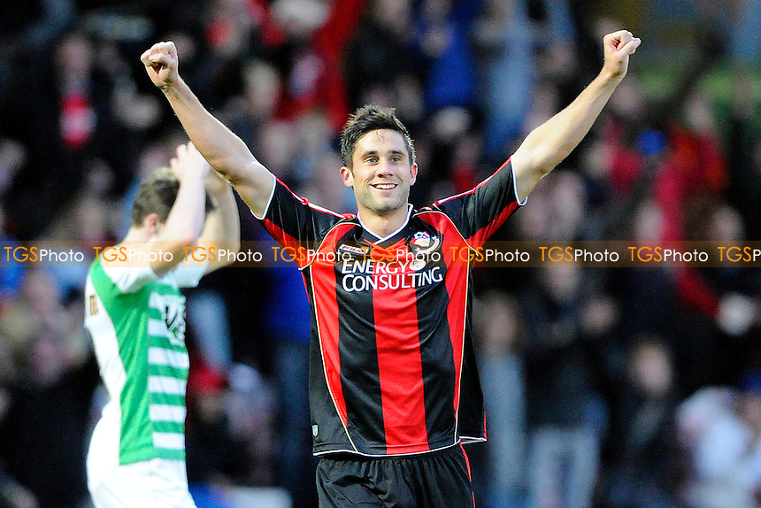 Andrew Surman of AFC Bournemouth celebrates the second goal - AFC Bournemouth vs Yeovil Town - Sky Bet Championship Football at the Goldsands Stadium, Bournemouth, Dorset - 26/12/13 - MANDATORY CREDIT: Denis Murphy/TGSPHOTO - Self billing applies where appropriate - 0845 094 6026 - contact@tgsphoto.co.uk - NO UNPAID USE