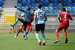 Kevin Koffi behauptet den Ball artistisch beim Spiel in der 3. Liga, SV Waldhof Mannheim - FSV Zwickau.<br /> <br /> Foto © PIX-Sportfotos *** Foto ist honorarpflichtig! *** Auf Anfrage in hoeherer Qualitaet/Aufloesung. Belegexemplar erbeten. Veroeffentlichung ausschliesslich fuer journalistisch-publizistische Zwecke. For editorial use only. DFL regulations prohibit any use of photographs as image sequences and/or quasi-video.