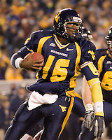 02 December 2006: West Virginia quarterback Jarrett Brown (16)..The West Virginia Mountaineers defeated the Rutgers Scarlet Knights 41-39 in triple overtime on December 02, 2006 at Mountaineer Field, Morgantown, West Virginia. .