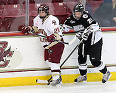 Stephanie Olchowski (Boston College - 28), Alyse Ruff (Providence - 21) - The Providence College Friars and Boston College Eagles tied at 1 on BC's senior night on Saturday, February 21, 2009, at Conte Forum in Chestnut Hill, Massachusetts.