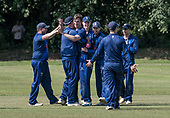 Cricket Scotland - the Citylets Scottish Cup Final between Carlton CC V Heriots CC at Meikleriggs, Paisley (Ferguslie CC) - Heriots celebrate a wicket - picture by Donald MacLeod - 25.08.19 - 07702 319 738 - clanmacleod@btinternet.com - www.donald-macleod.com