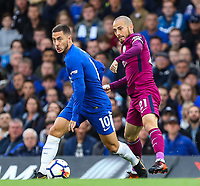 Eden Hazard of Chelsea and David Silva of Manchester City <br /> Calcio Chelsea - Manchester City Premier League <br /> Foto Phcimages/Panoramic/insidefoto