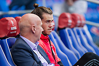 Gareth Bale watches Wales national team training ahead of the World Cup Qualification match against Republic of Ireland at Cardiff City Stadium, Cardiff, Wales on 8 October 2017. Photo by Mark  Hawkins.
